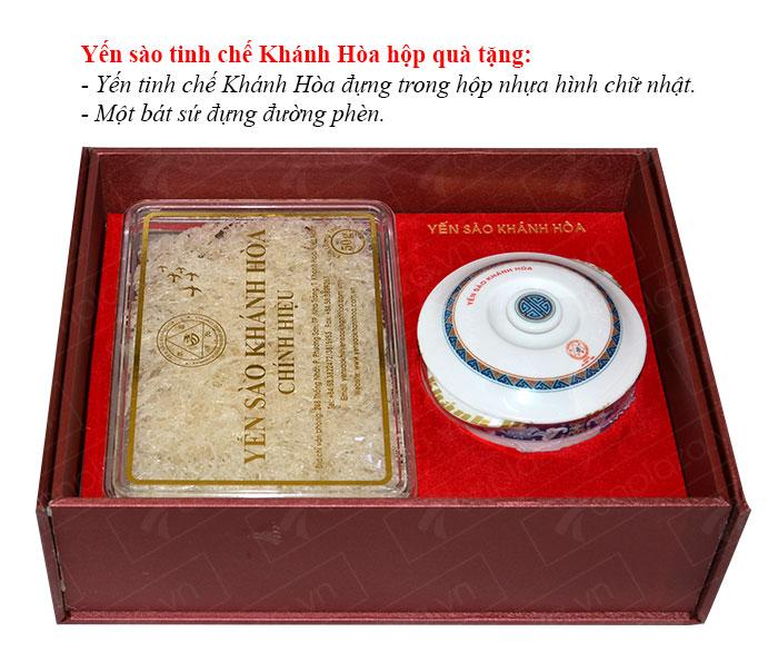 Yến trắng tinh chế Khánh Hòa hộp quà tặng 50g (H015G) Y018 2