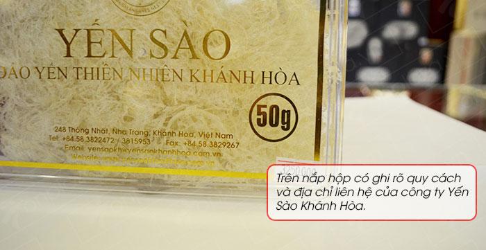 Yến trắng tinh chế Khánh Hòa hộp quà tặng 50g (H015G) Y018 7