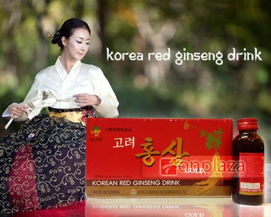 Nước uống Hồng sâm Hàn Quốc loại 10 chai