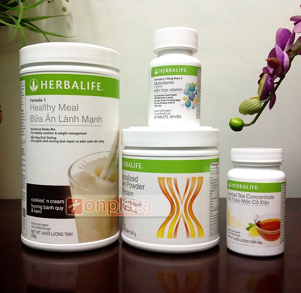 Bộ 4 sản phẩm giảm cân Herbalife nâng cao