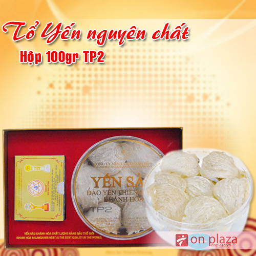 Tổ yến trắng Khánh Hòa sơ chế hộp 100g TP2