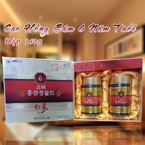 Cao hồng sâm 6 năm tuổi Hàn Quốc loại 2 hũ