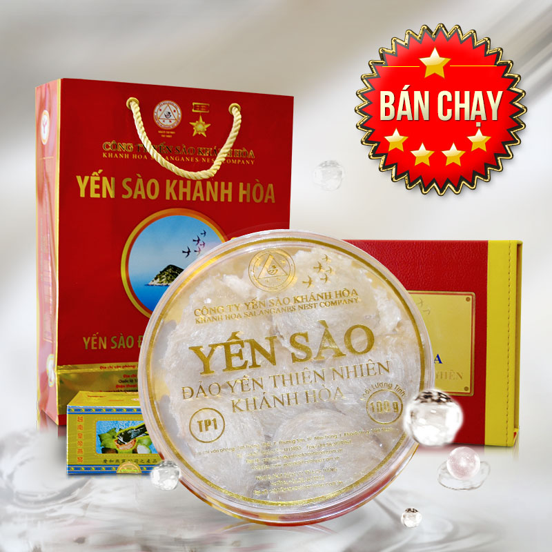 Tổ yến trắng sơ chế 100g TP1 Khánh Hòa